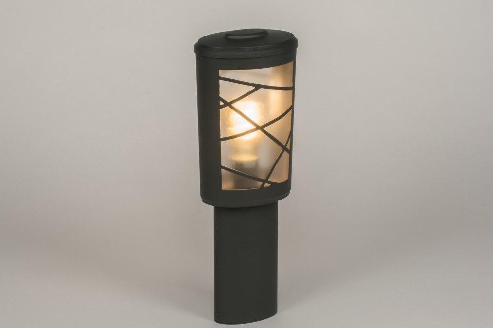 Buitenlamp 72661: modern, antraciet donkergrijs, aluminium, metaal #0