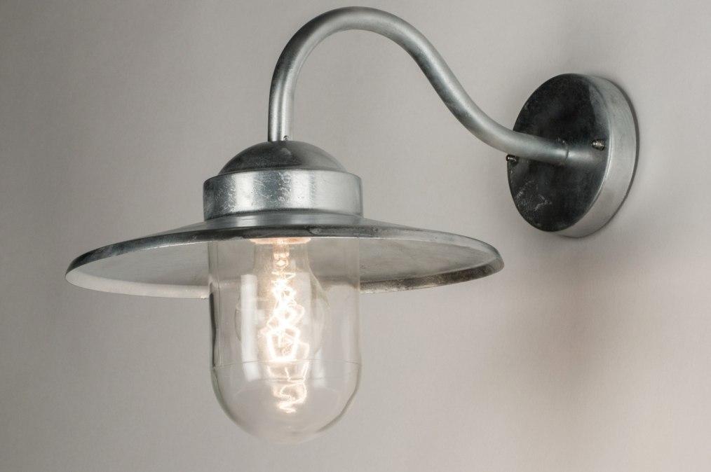 Wandlamp 72662: landelijk rustiek, modern, eigentijds klassiek, glas #0