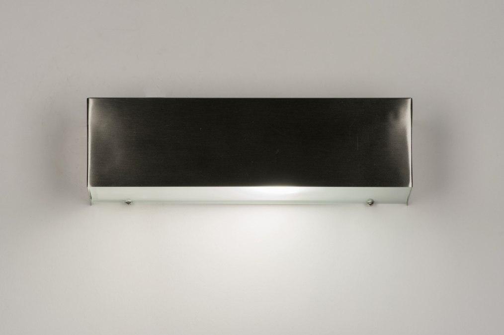 applique murale 72664 moderne gris d acier acier acier poli. Black Bedroom Furniture Sets. Home Design Ideas