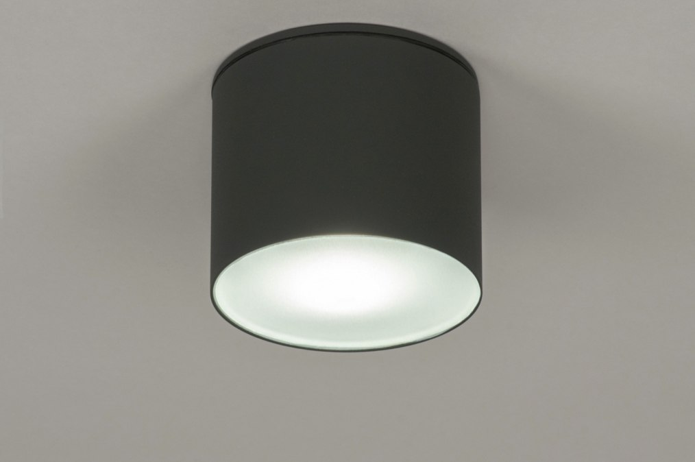 deckenleuchte 72665 modern aluminium anthrazit rund. Black Bedroom Furniture Sets. Home Design Ideas