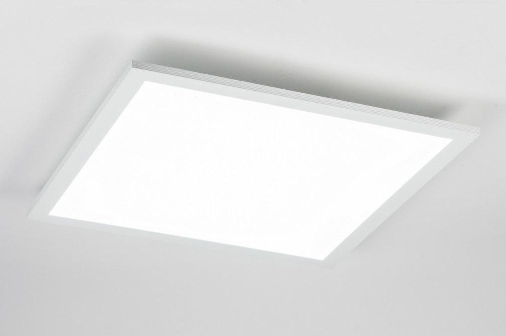 Plafondlamp 72676: modern, wit, mat, aluminium #0