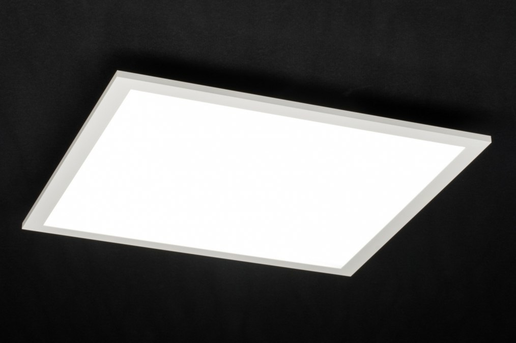 Plafondlamp 72677: modern, wit, mat, aluminium #0
