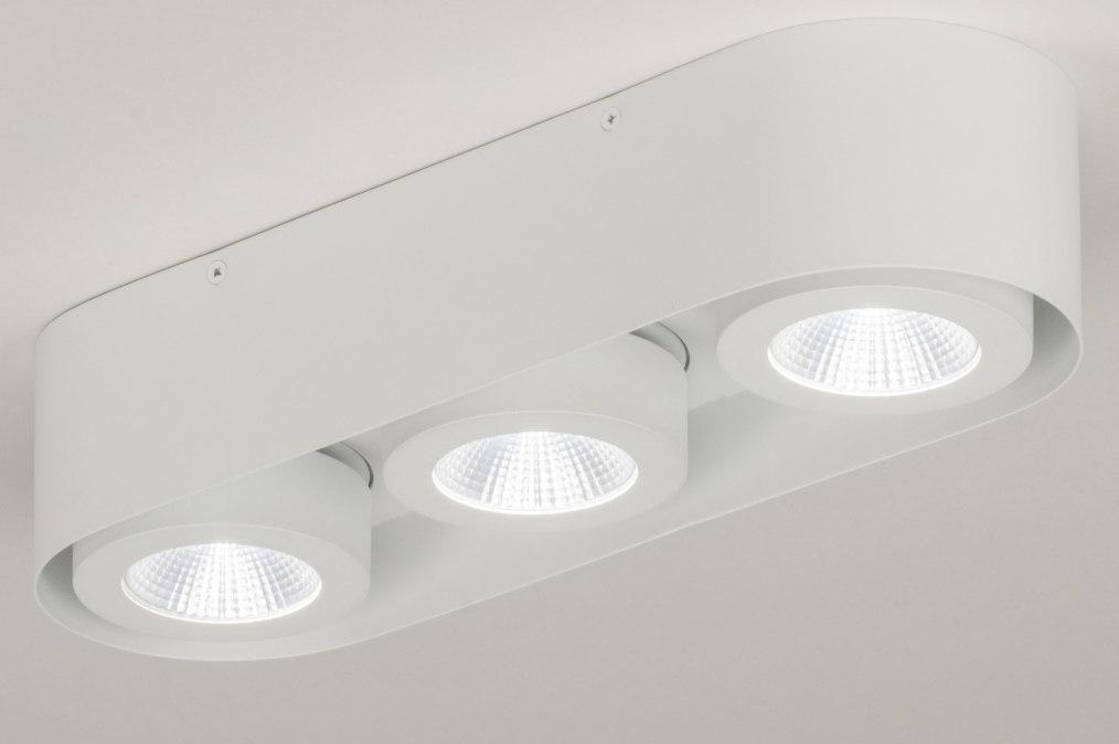 Plafondlamp 72691: modern, design, wit, mat #0