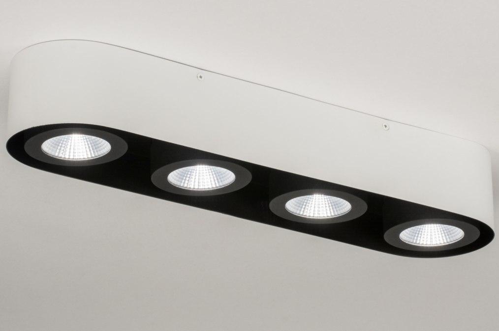 Plafondlamp 72696: modern, design, wit, mat #0