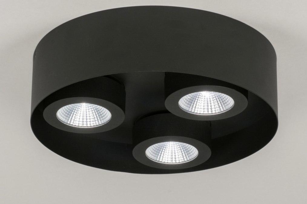 Plafondlamp 72698: modern, metaal, zwart, mat #0