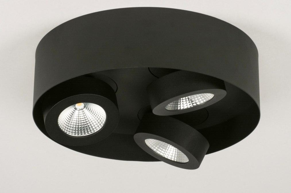 deckenleuchte 72698 modern schwarz matt metall. Black Bedroom Furniture Sets. Home Design Ideas