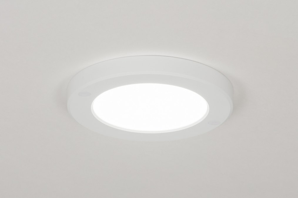 Plafondlamp 72740: modern, wit, mat, kunststof #0