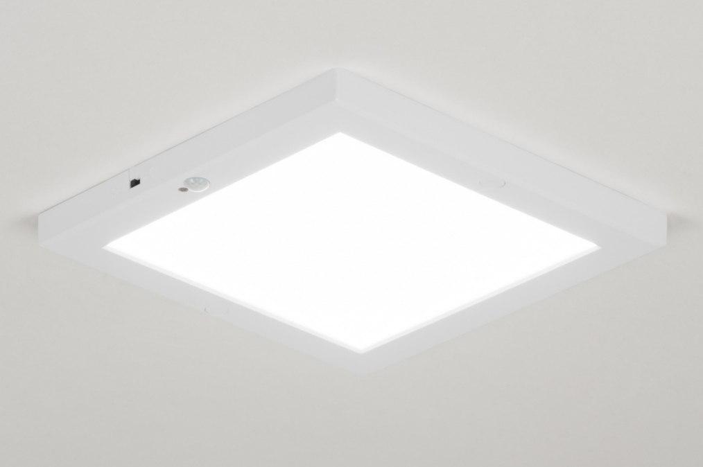 Plafondlamp 72744: modern, kunststof, wit, mat #0