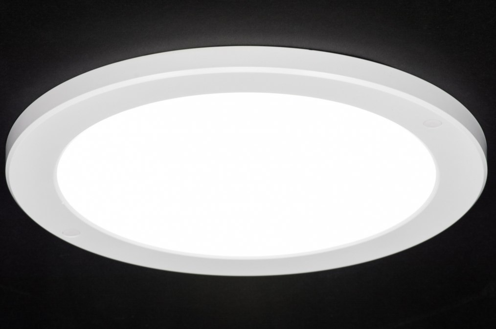 Plafondlamp 72745: modern, wit, mat, kunststof #0