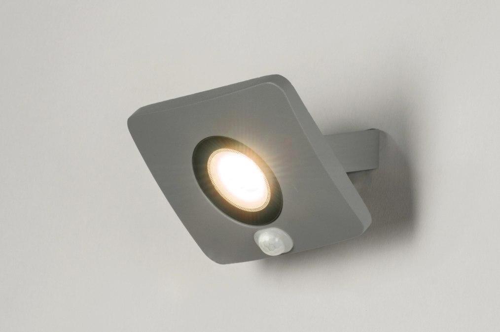 Wandlamp 72755: design, modern, aluminium, metaal #0