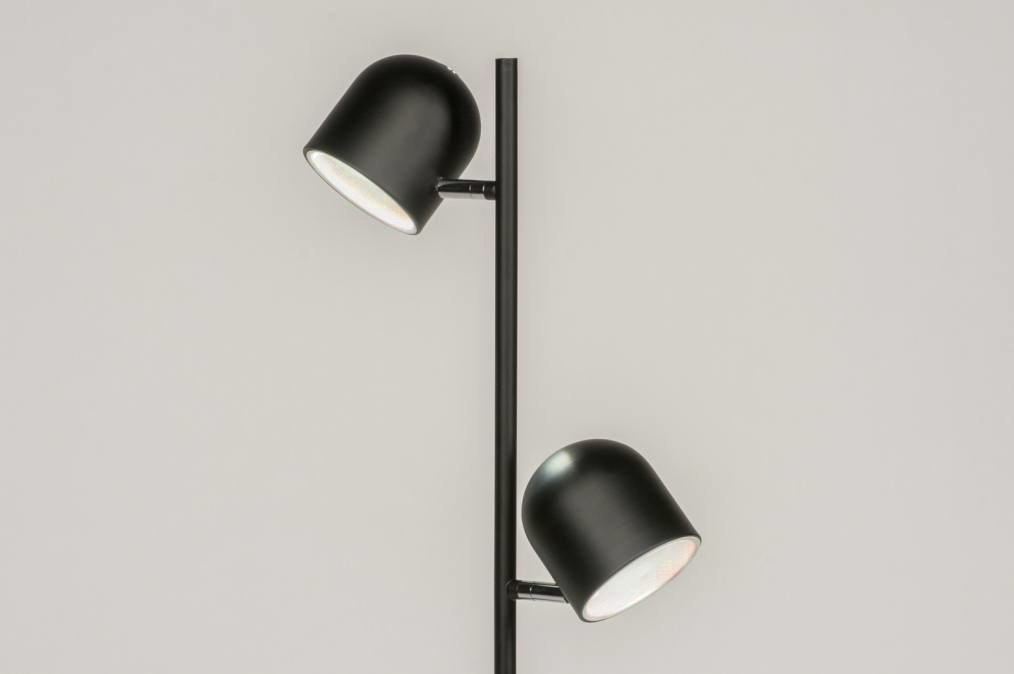 Floor lamp 72765: designer, modern, metal, black #0