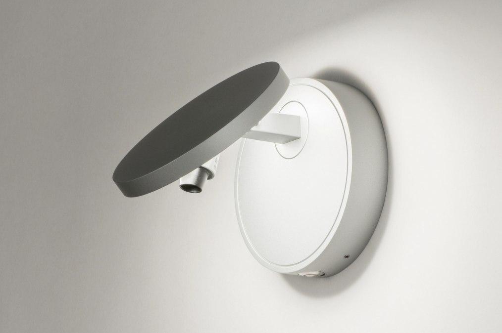 Wandlamp 72779: design, modern, aluminium, zilvergrijs #0