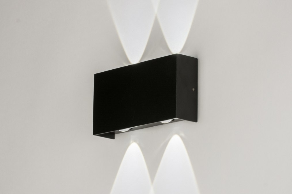Wandlamp 72783: modern, zwart, aluminium, metaal #0
