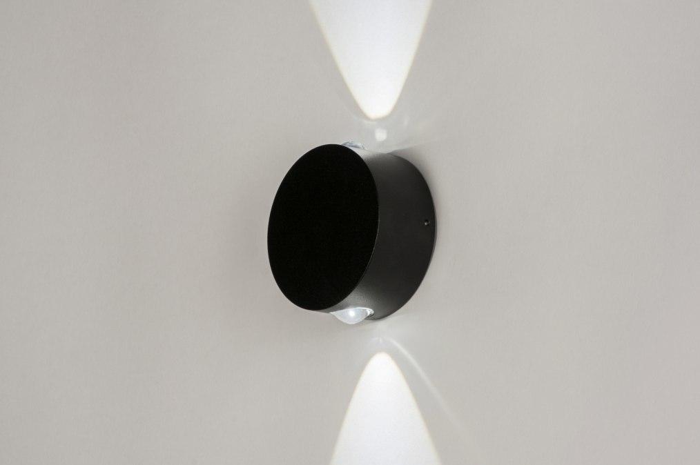 Wandlamp 72785: modern, aluminium, metaal, zwart #0