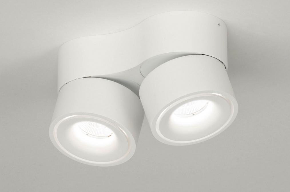 Plafondlamp 72788: design, modern, aluminium, wit #0