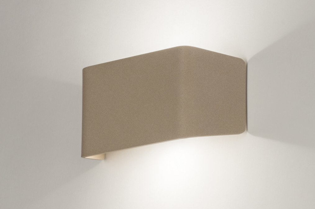 Wandlamp 72807: modern, design, beige, brons roest bruin #0