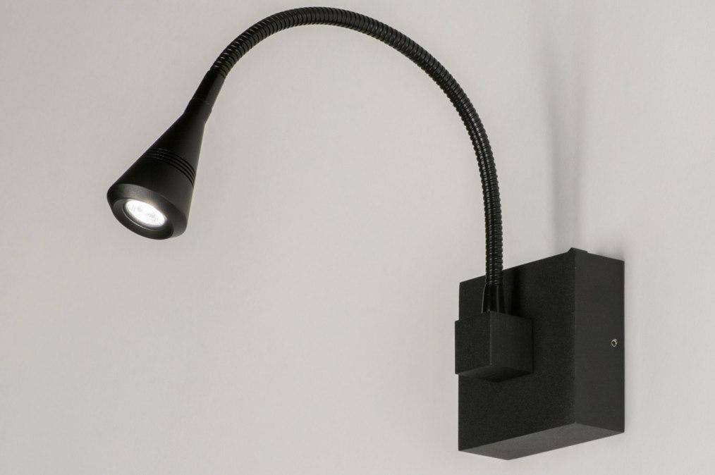 applique murale 72816 moderne noir mat aluminium. Black Bedroom Furniture Sets. Home Design Ideas