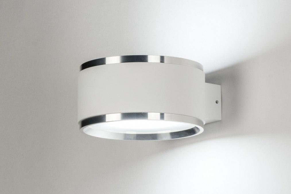 Wandlamp 72817: modern, design, wit, mat #0