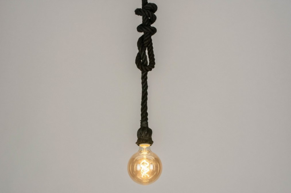 Suspension 72833: look industriel, rural rustique, moderne, lampes costauds #0