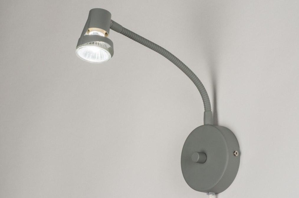 Wandlamp 72844: sale, modern, metaal, grijs #0