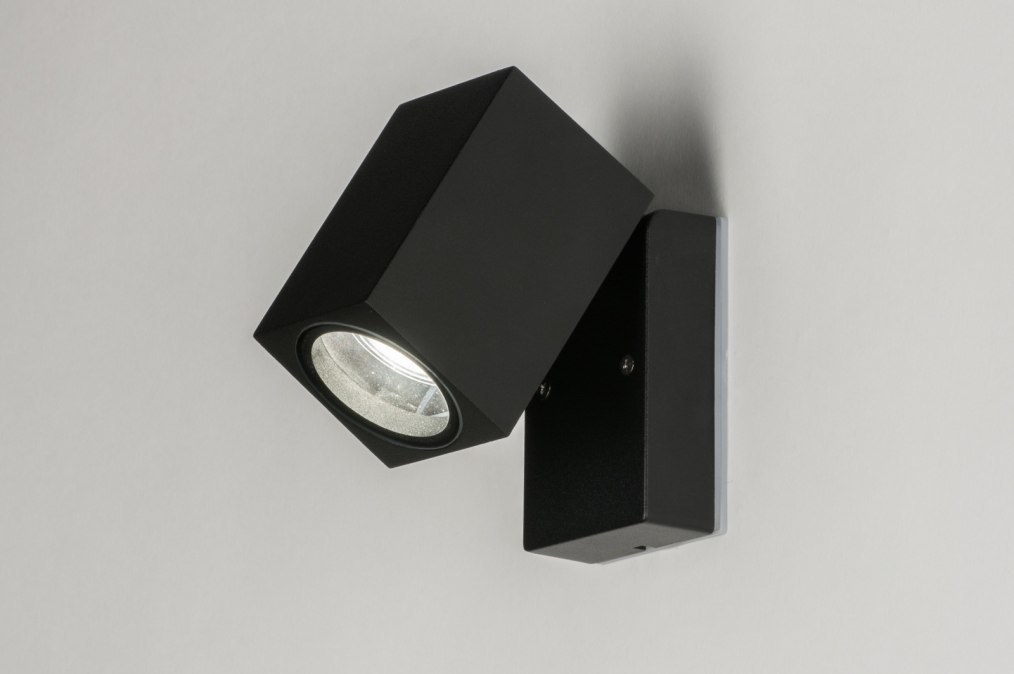 Wandlamp 72850: modern, aluminium, metaal, zwart #0