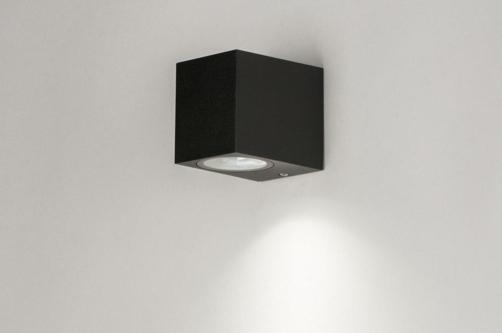 Wandlamp 72852: modern, aluminium, metaal, zwart #0