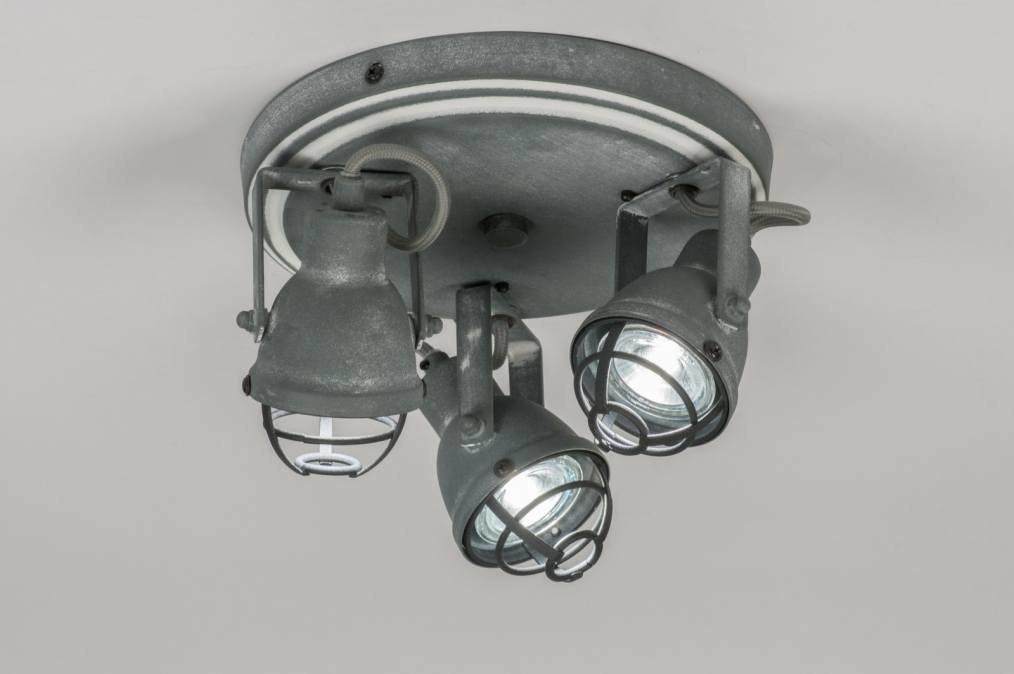 Plafondlamp 72859: industrie, look, landelijk, rustiek #0