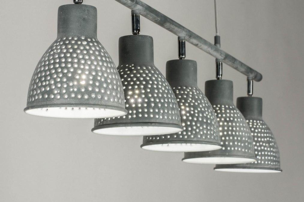 Hanglamp 72864: modern, stoer, raw, betongrijs #0