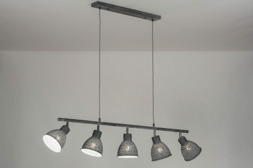 pendelleuchte 72864 modern coole lampen grob betongrau grau. Black Bedroom Furniture Sets. Home Design Ideas