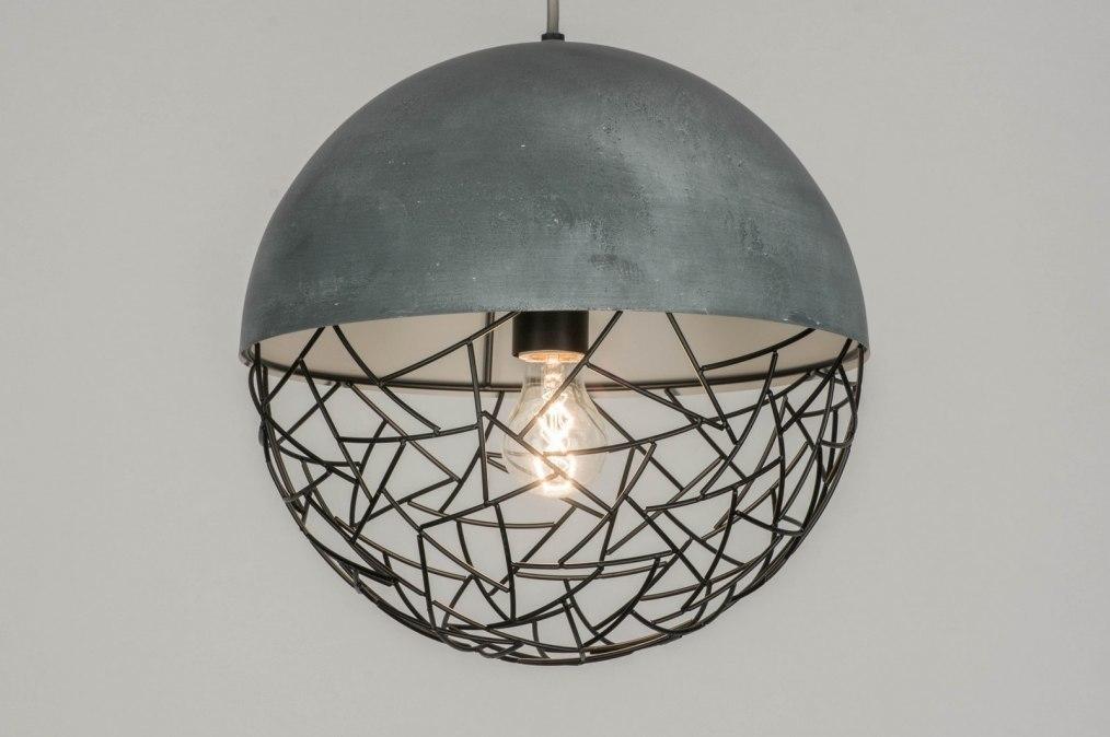 Hanglamp 72870: modern, stoer, raw, betongrijs #0