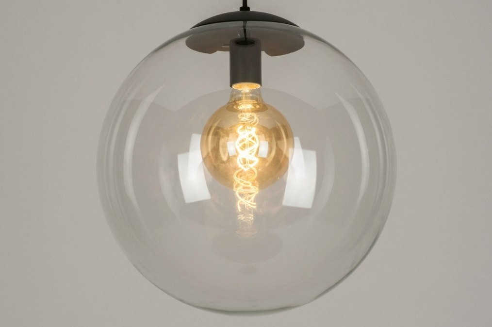Hanglamp 72877: modern, retro, glas, helder glas #0