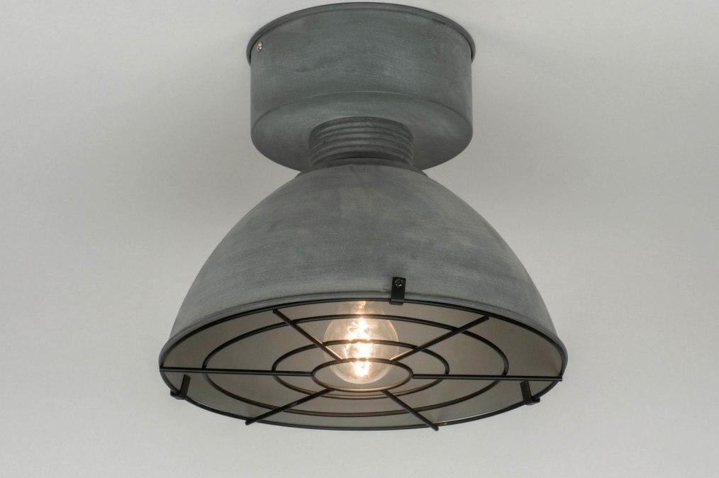 Plafondlamp 72886: industrie, look, landelijk, rustiek #0