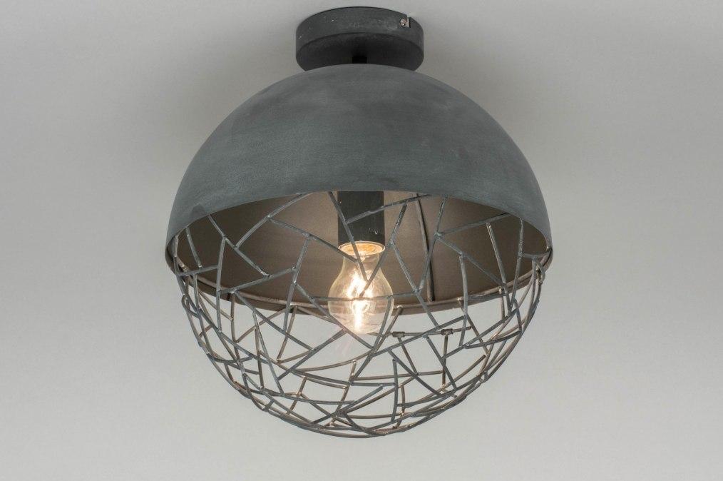 Plafondlamp 72893: modern, stoer, raw, metaal #0
