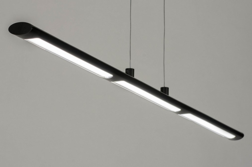 pendelleuchte 72898 modern metall schwarz laenglich. Black Bedroom Furniture Sets. Home Design Ideas