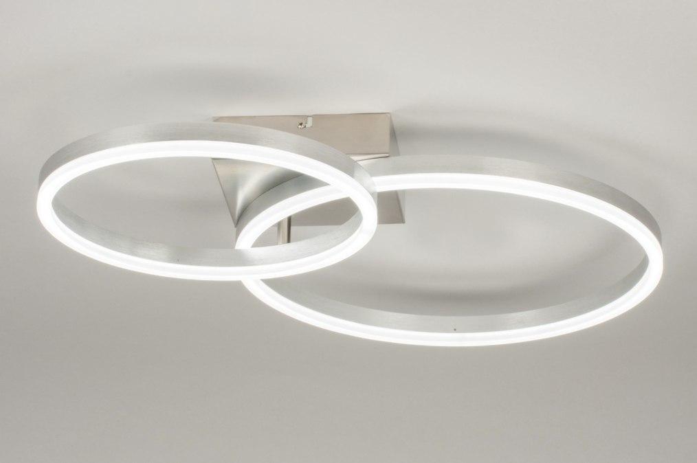Plafondlamp 72900: sale, modern, aluminium, staalgrijs #0
