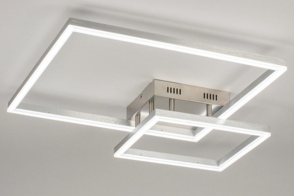 Plafondlamp 72901: sale, modern, aluminium, staalgrijs #0