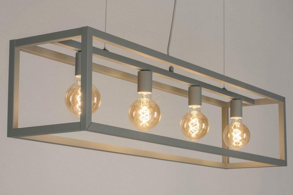 Hanglamp 72908: sale, modern, metaal, grijs #0