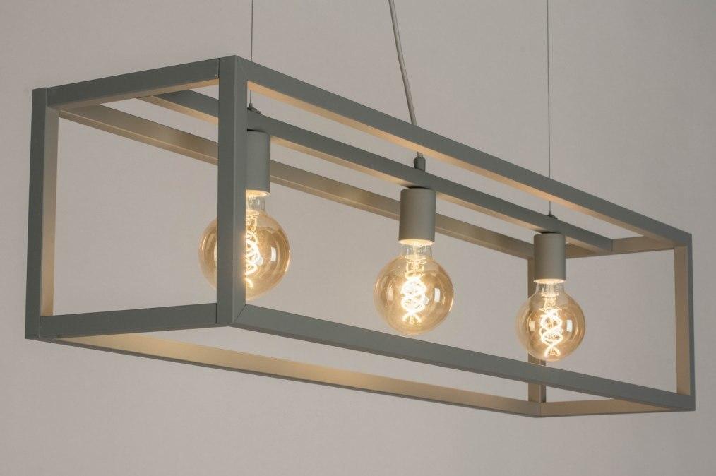 Hanglamp 72911: sale, modern, metaal, grijs #0