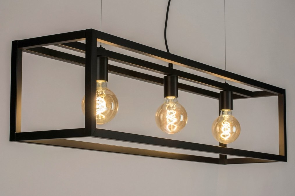 Pendant light 72912: modern, metal, black, matt #0