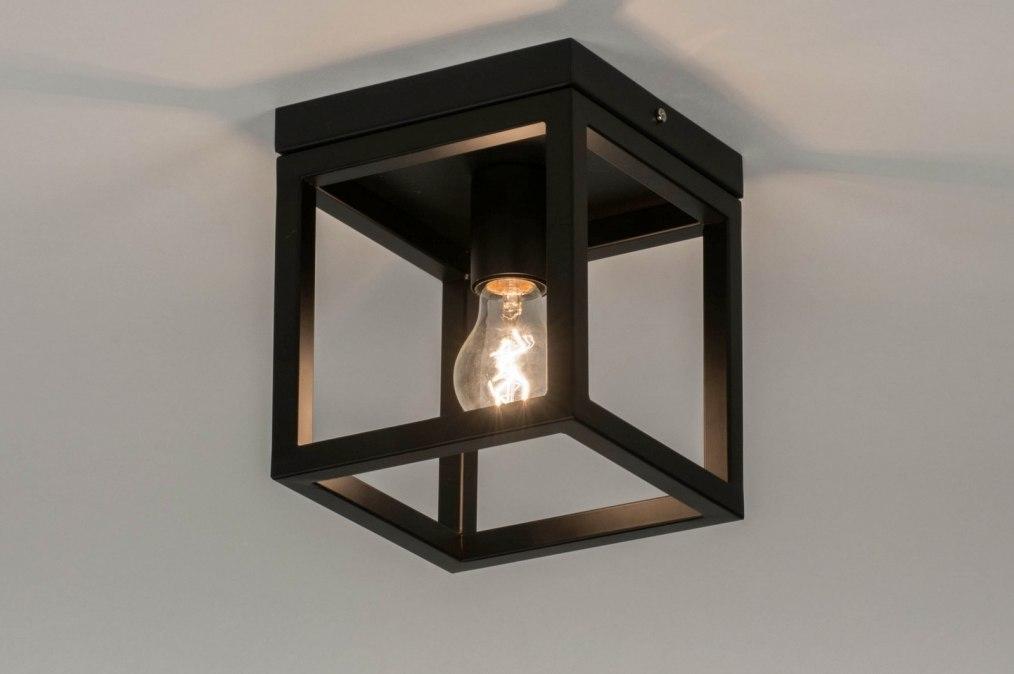 Plafondlamp 72915: modern, metaal, zwart, mat #0