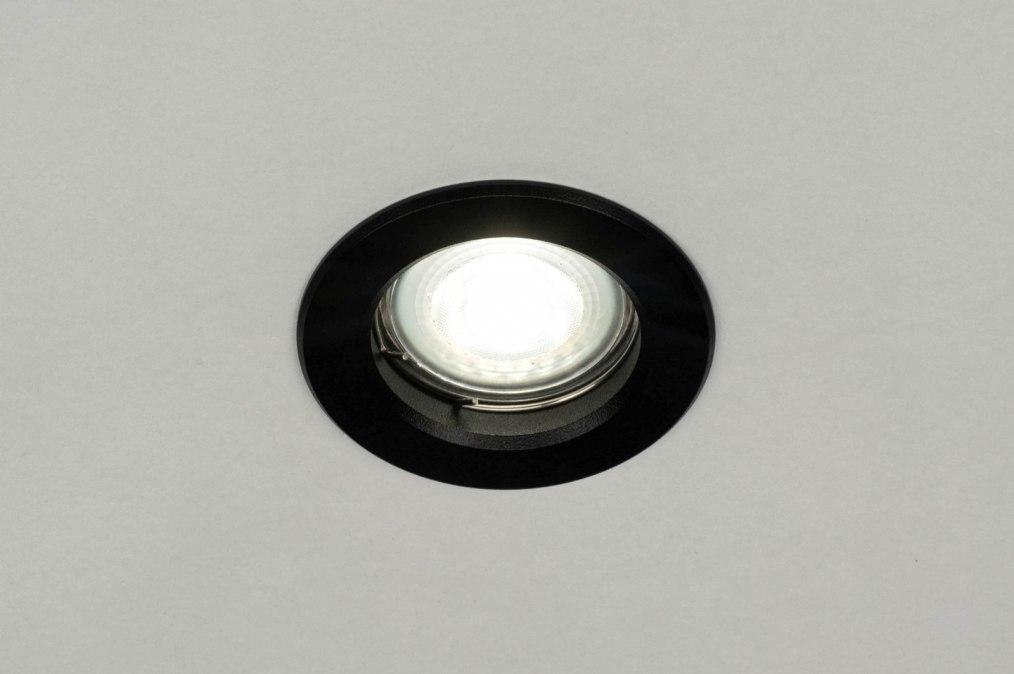 Inbouwspot 72935: modern, aluminium, metaal, zwart #0