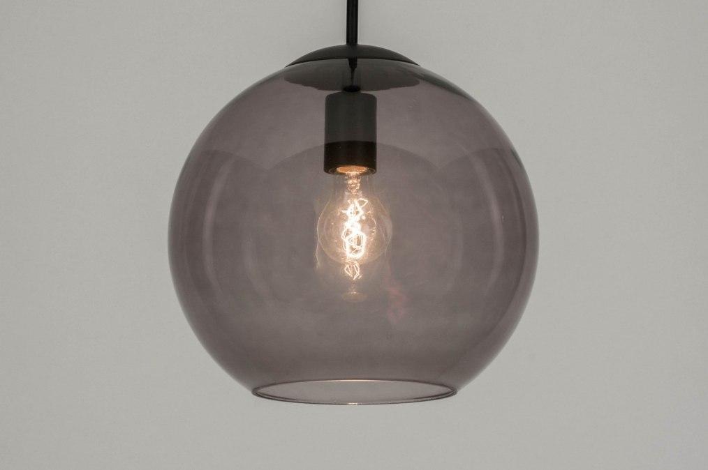 Pendant light 72940: modern, retro, glass, black #0
