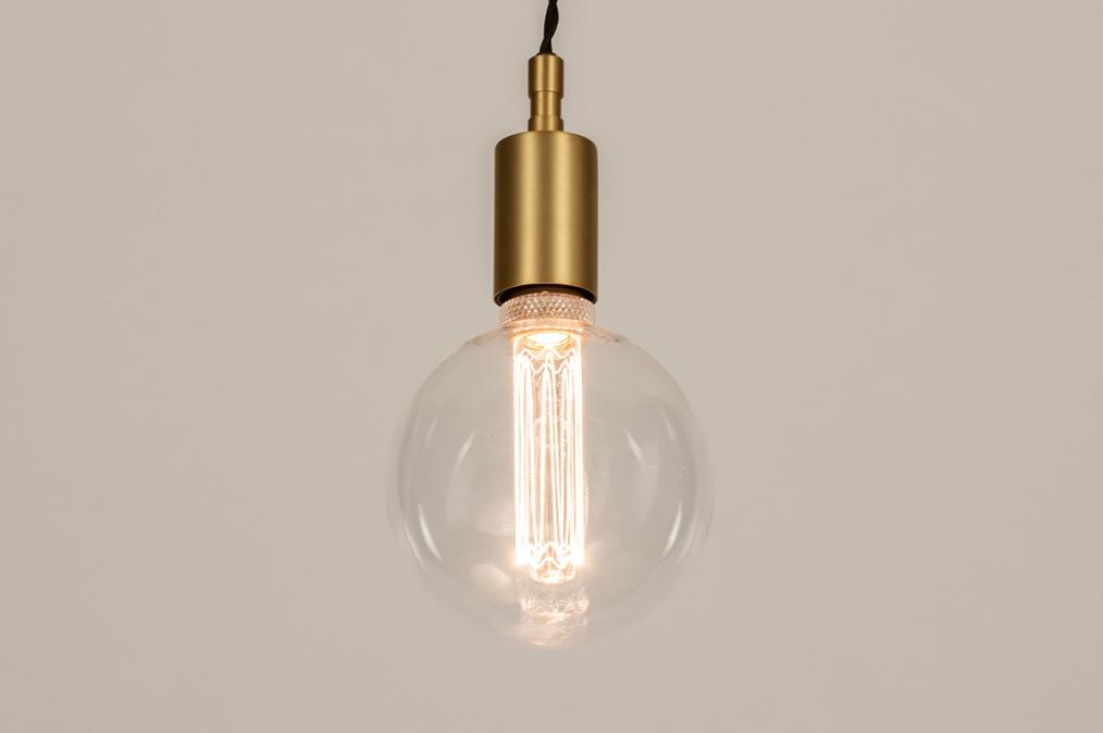 Suspension 72949: look industriel, moderne, classique contemporain, cuivre jaune #0