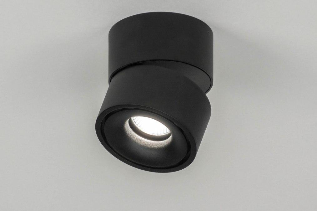 Plafondlamp 72971: modern, design, zwart, mat #0