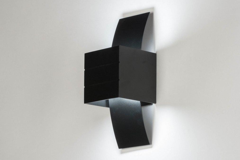Applique murale moderne design noir mat
