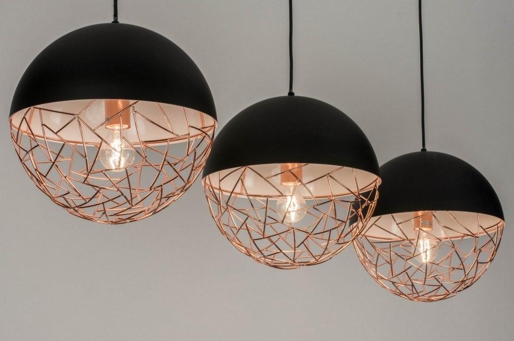 Hanglamp 72994: modern, retro, metaal, zwart #0