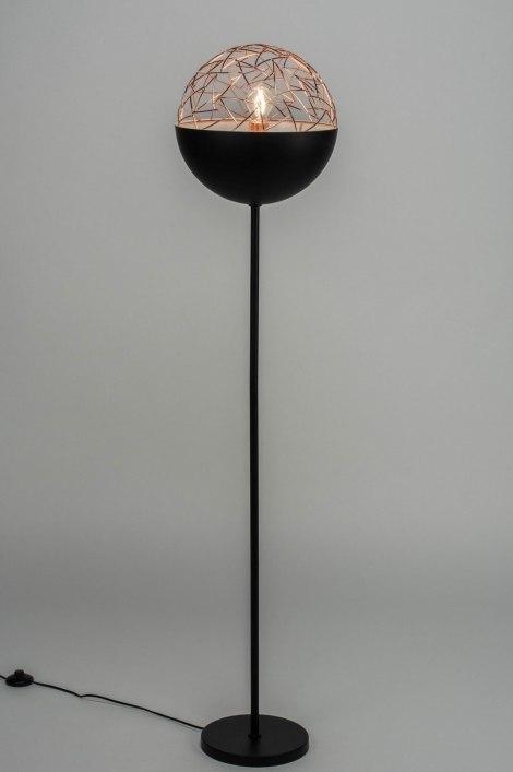 Vloerlamp 72995: modern, retro, metaal, zwart #0