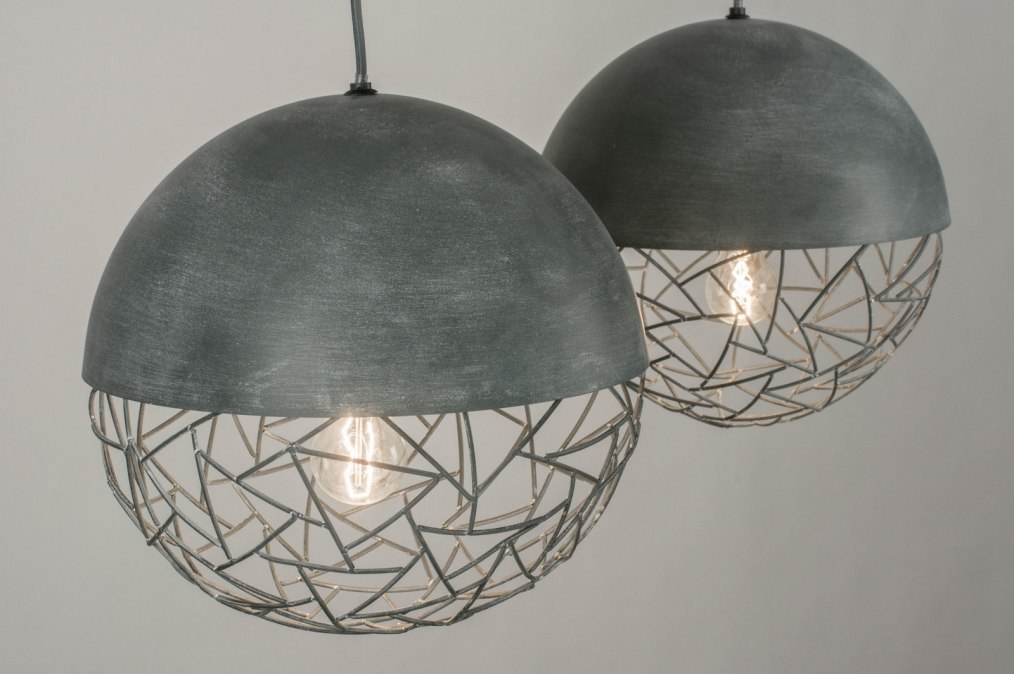 pendelleuchte 72996 modern retro coole lampen grob betongrau. Black Bedroom Furniture Sets. Home Design Ideas