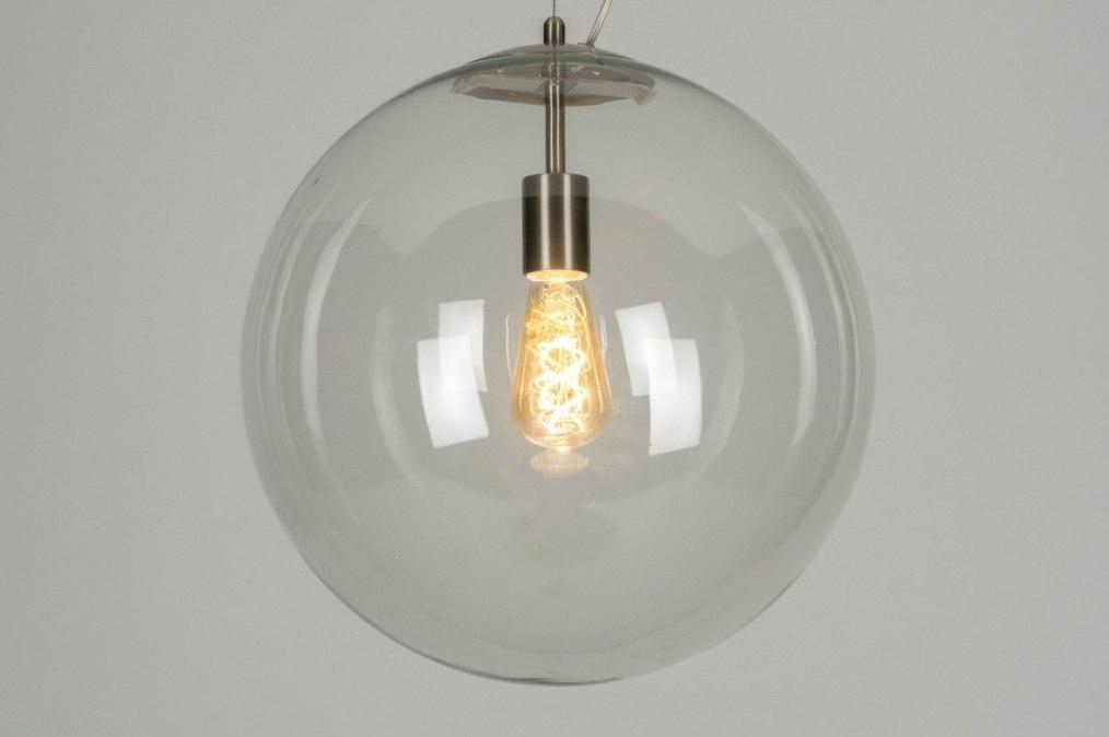 Hanglamp 73001: modern, retro, staalgrijs, transparant kleurloos #0