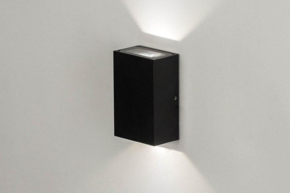 applique murale 73006 moderne noir mat aluminium. Black Bedroom Furniture Sets. Home Design Ideas